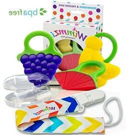 Wimmzi Infant and Toddler Teething Toys: BPA-free Silicone T
