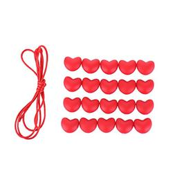 20 PCS A+++ Silicone Teething Sweetheart Beads Non-Toxic Che