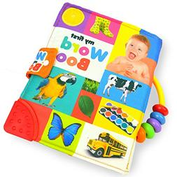 Baby Activity Book My First Word Book Soft Durable Cotton Po