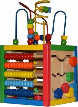 Activity Cube Abacus Counting Beads Maze Number Sliding Shap