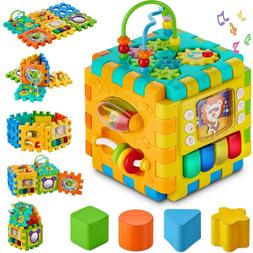 Activity Cube Center New Shape Sorter Play Educational Toys