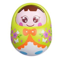Coolecool Adorable Tumbler Doll Baby Toys 3 Months with Shak