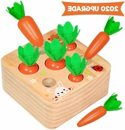 Aitbay Educational Wooden Toys for Toddlers, Carrots Harvest
