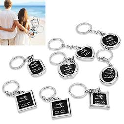 Photo Frame Keychain Set - Protective Cover Included 8 Piece