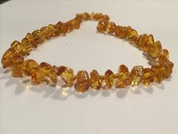 Baltic Amber Teething 12.5 inch Necklace for Babies   - Anti