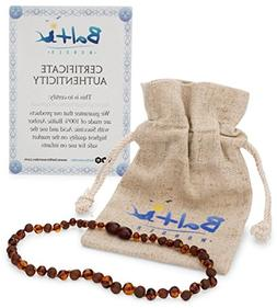 Amber Teething Necklace for Babies   - Anti Inflammatory, Dr