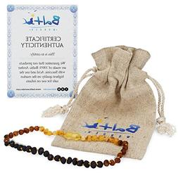 Baltic Amber Teething Necklace for Babies   - Anti Inflammat