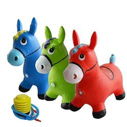 MyToy Kids Animal Space Hopper Inflatable Horse Ride-On Boun