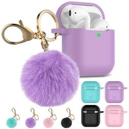 For Apple Airpods 2 1 Silicone Case Protective Cute Cover wi