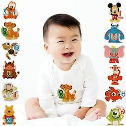Disney Baby Boys Assorted Character Monthly Milestone Photo