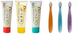 Assorted Set of Natural Children's Toothbrushes and Natural