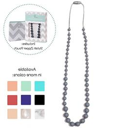 Goobie Baby Audrey Silicone Teething Necklace for Mom to Wea