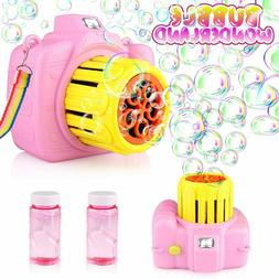 Betheaces Automatic Bubble Machine Toys for Kids with Bubble