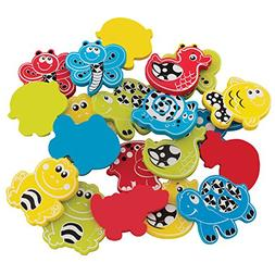 Playgro Babies Animal Friends Bath Shapes with Net and Sucti