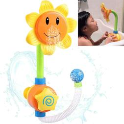 Baby Bath Toys Children Sunflower Shower Faucet Bath Toy for