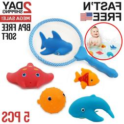 Baby Bath Toys For Toddlers Tub Animals Floating Infant Soft