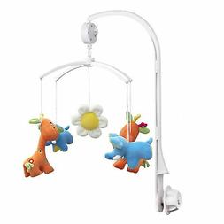 Baby Crib Mobile Bed Bell Toy Holder Arm Bracket + Wind-up M