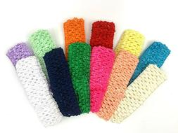 "Baby Crochet Headbands 1.5"" Elastic Headbands for Girls 12"