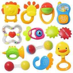 Baby Cute Cartoon Animal Teethers Rattles Training Toys For