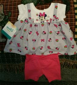 Baby Girl 2 Piece Minnie Mouse Outfit ~ Size 0-3 Months ~ Di