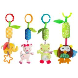 Infant Baby Stroller Hanging Toys Animal Rattles Ring Bell T