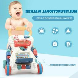 Baby Push Walker Sit-to-Stand Toddler Learning Interactive T