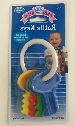 Baby Rattle Keys For Ages 0-18 Months Colorful Washable Non-
