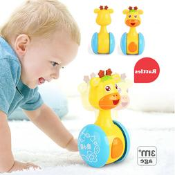 Baby Rattles Tumbler Doll Toy Bell Music Learning Education