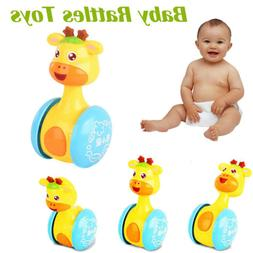 Baby Rattles Tumbler Running Doll Bell Ring Educational Roly