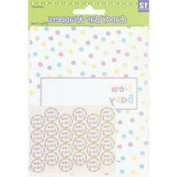 BABY SHOWER Unisex CANDY BAR WRAPPER KIT ~ Party Supplies Fa