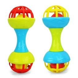 Baby Silicone Dumbbel Teethers Rattles Training Toys For Kid