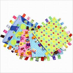 Baby Square Plush Super Soft Taggies Blanket Comforting Wate