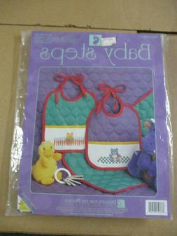 Designs for the Needle Baby Steps Cross Stitch Kit Two Bibs