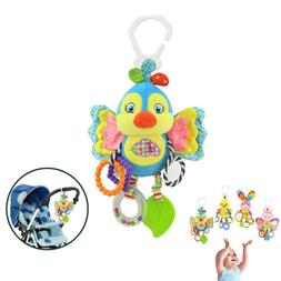 Baby Stroller Hanging Toy Plush Animal Rattle Bed Bell Infan