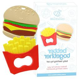 Baby Teething Toys Burger and Fries Baby Teether Toy Set - S