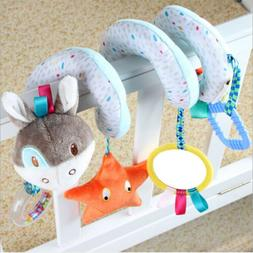 Baby Toddler Animals Spiral Rattle Infant Bed Stroller Crib
