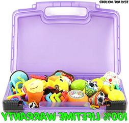 Baby Toy Case, Toy Storage Carrying Box. Figures Playset Org