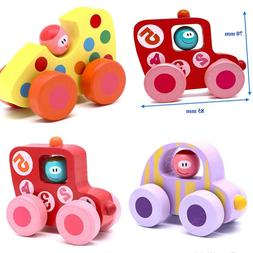 Baby Toy Wooden Car 3 Mini Cars For Kids Toys Gifts