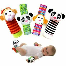 Baby Toys Socks Wrist Rattles and Foot Finders Baby Toys for