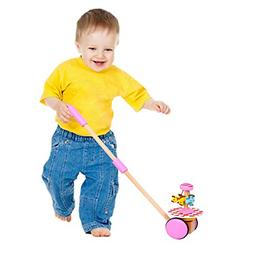 Baby Walker Wooden Push and Pull Walking Toy Push Along Hors
