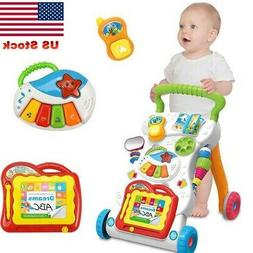 Baby Walking Stroller Seat Learning Musical Walker Activity
