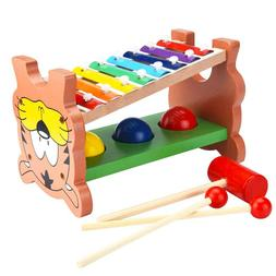 Baby Wooden Pounding Toy Musical Xylophone Toy Baby Toddler