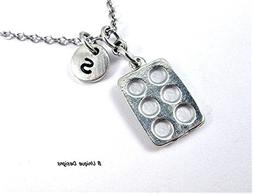 Baking Pan Necklace Personalized Baker Initial Add Your Bake