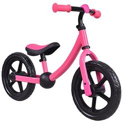 "Costzon 12"" Balance Bike, Adjustable Handlebar and Seat, No"