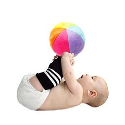 M'Baby Baby Balls Colorful Rattle Ball Soft Newborn Infant T