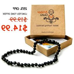 Baltic Amber Necklace for Babies, Baby Teeth Pain Reduce, Bl