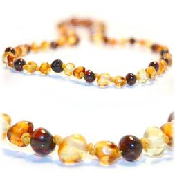 Certified Baltic Amber Teething Necklace for Baby  - Anti-in