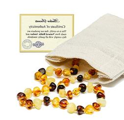 Baltic Amber Teething Necklace For Babies  - Multi Color - N