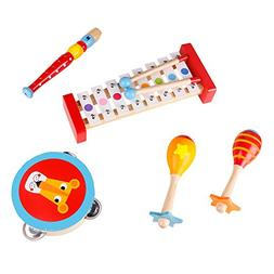 """USA Toyz Toddler Toys Wooden Musical Instruments - """"Band i"""