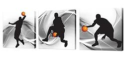 Natural art – Basketball Sports Themed Canvas Wall Art for